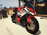 Kawasaki ZX10R Orange White